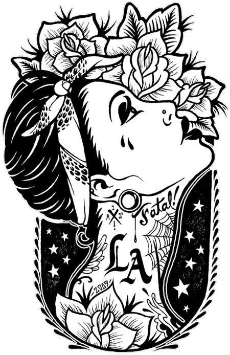 450x694 Chola Gangsta Coloring Pages Adult Coloring Pages
