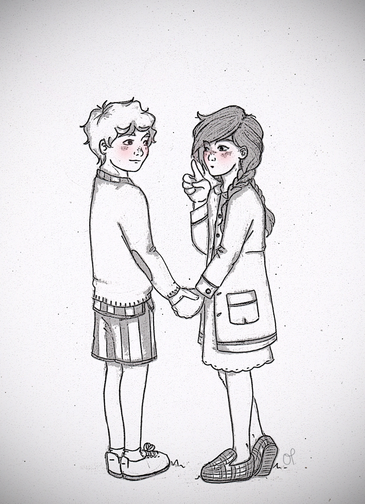 1222x1686 Tumblr Boy And Girl Drawing
