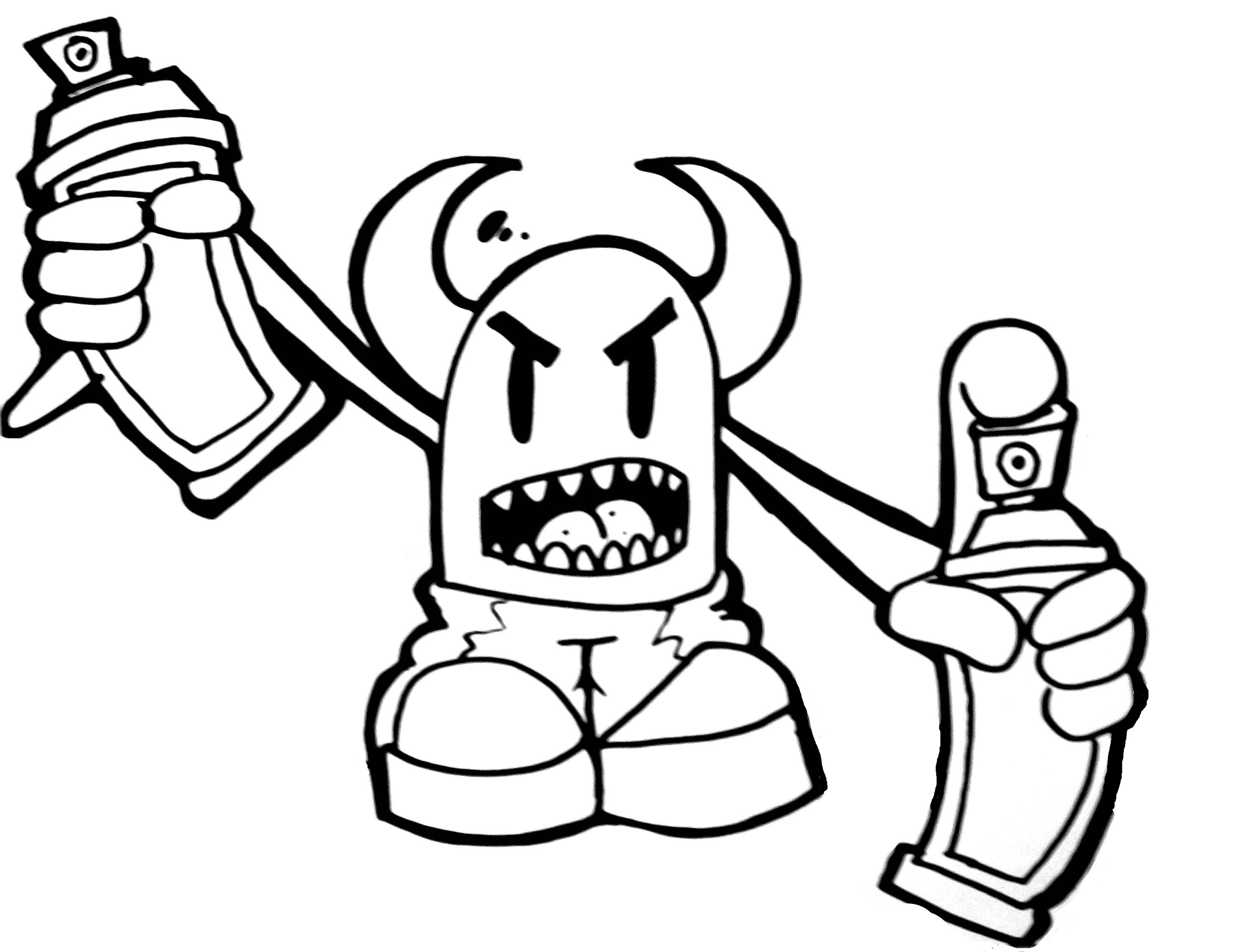 2958x2280 Graffiti Drawing Of Spray Can An Mickey Mouse How To Draw Skull