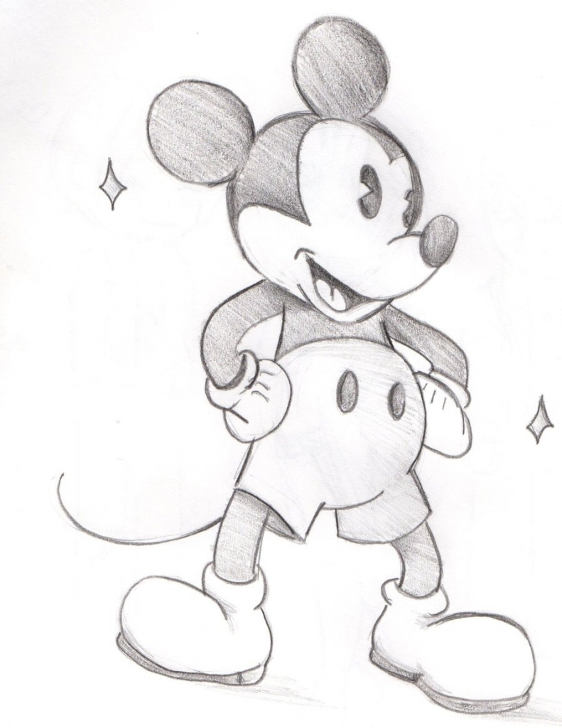 791x1024 Mickey Mouse Drawings Speed Drawing Disney Character Mickey Mouse
