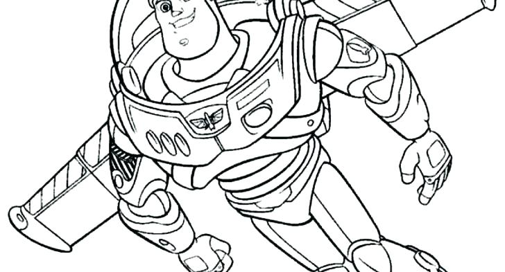 728x393 Buzz Coloring Pages