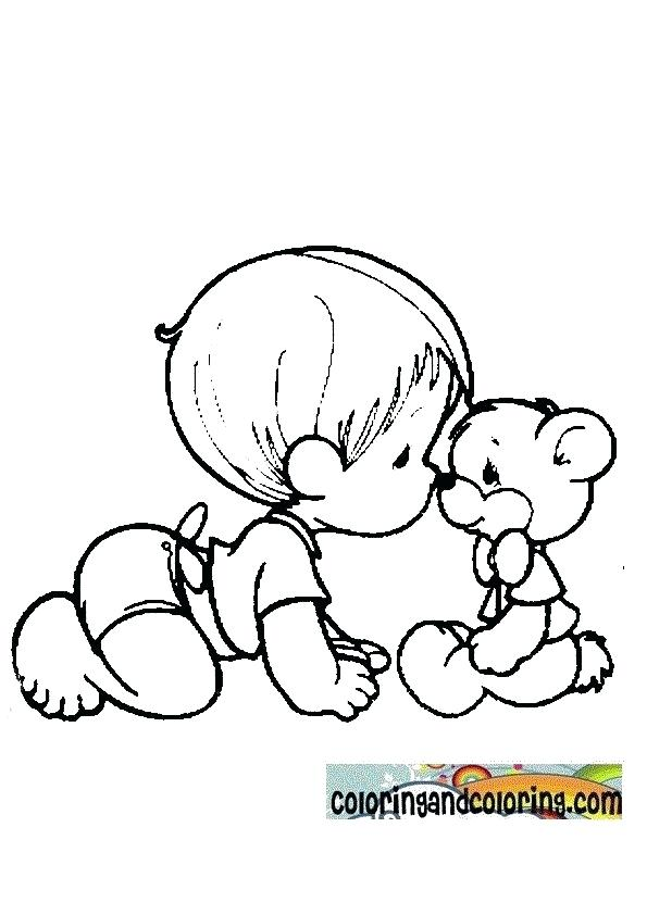 595x842 Baby Coloring Books Baby Coloring Pages Newborn Baby Animals