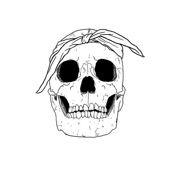 600x600 Gangsta Skull On Behance