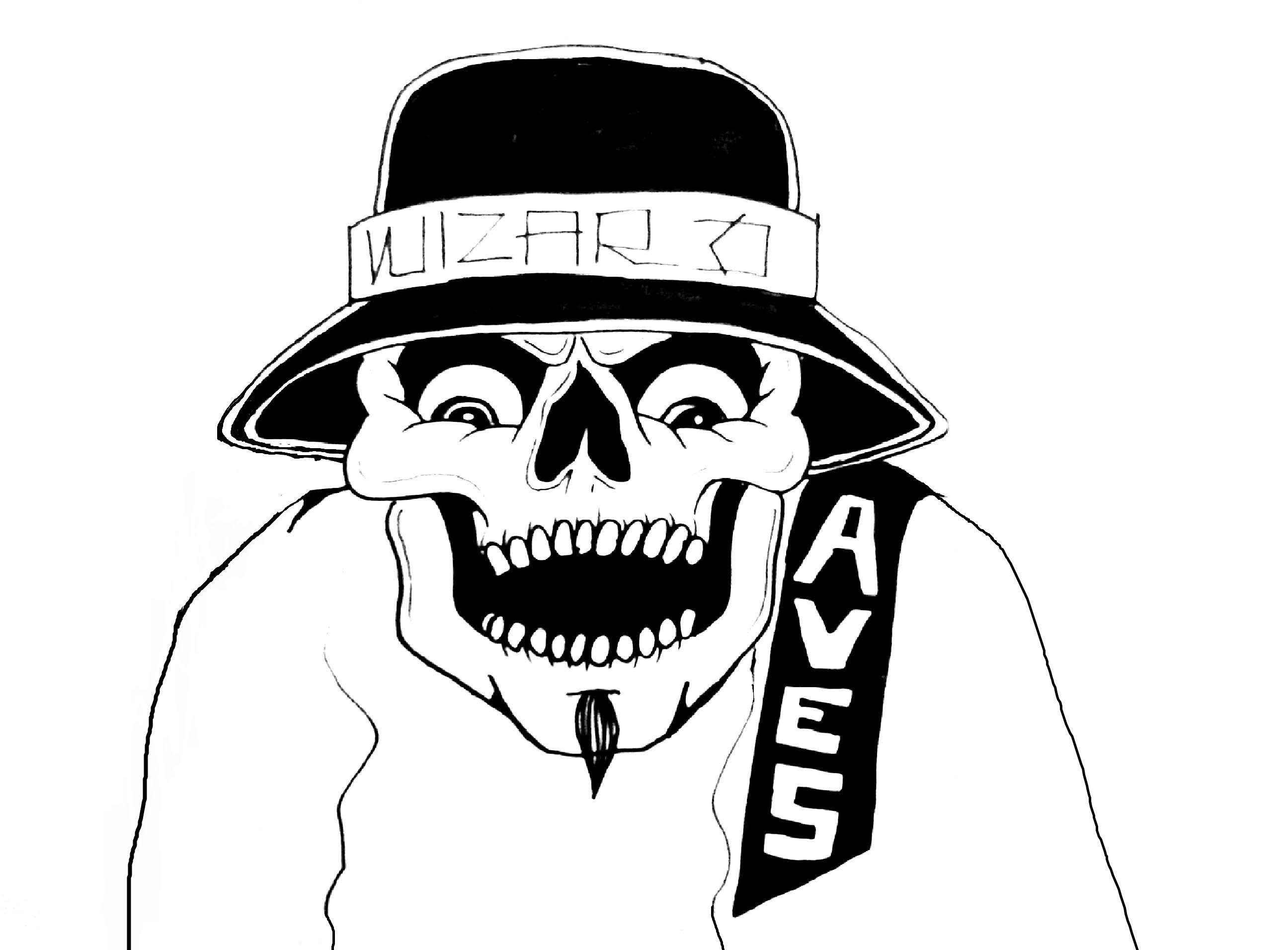 2592x1912 Gangster Skulls Drawings