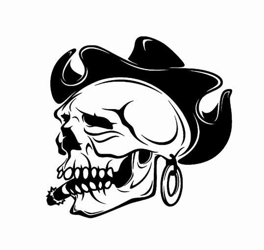 539x511 Image Of Skull In Hat Gangster Printable Image Illustration Sketch