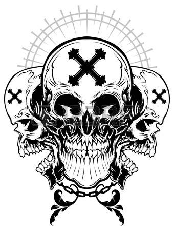 340x450 Skull Gangster Illustration Royalty Free Cliparts, Vectors,