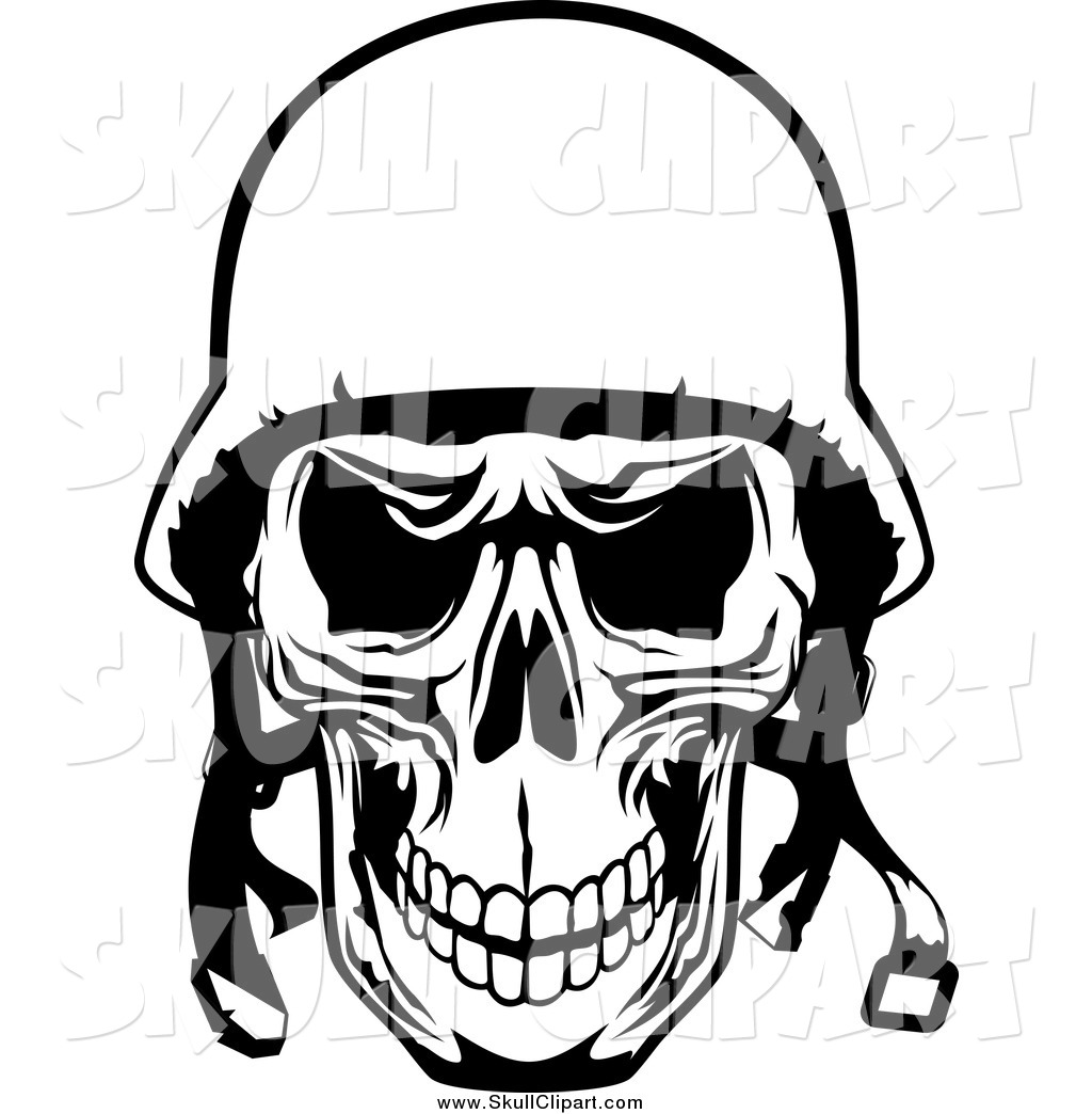 4a225c780a685 1024x1044 Vector Cliprt Of Blacknd White Tough Pilot Skull