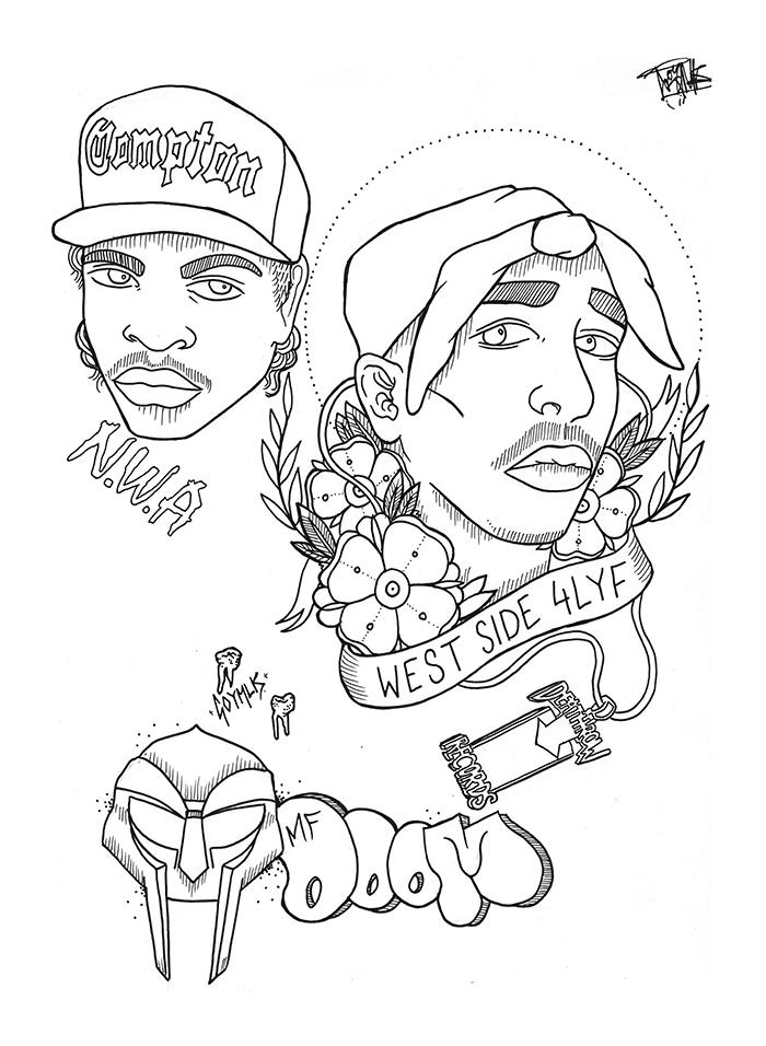 700x956 Gangster Drawings