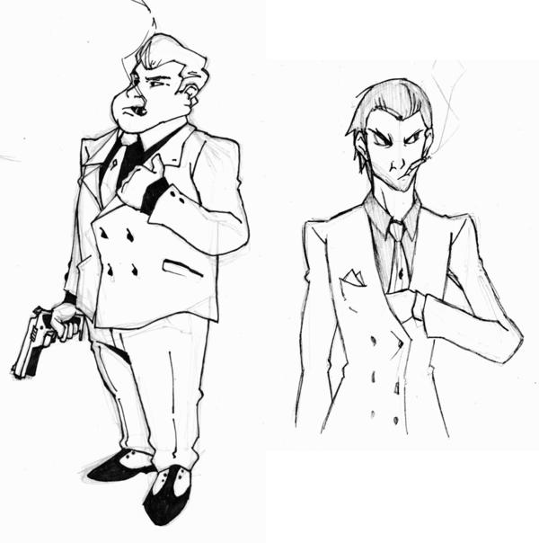 600x604 Mafia Gangsters Sketch Dump By Keeperofpork