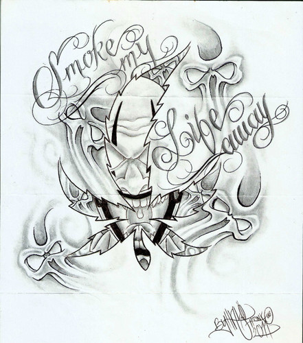 441x500 Tattoo Flash, Aztec, Evil, Gangster, Prison, Cars, Chineese, Women