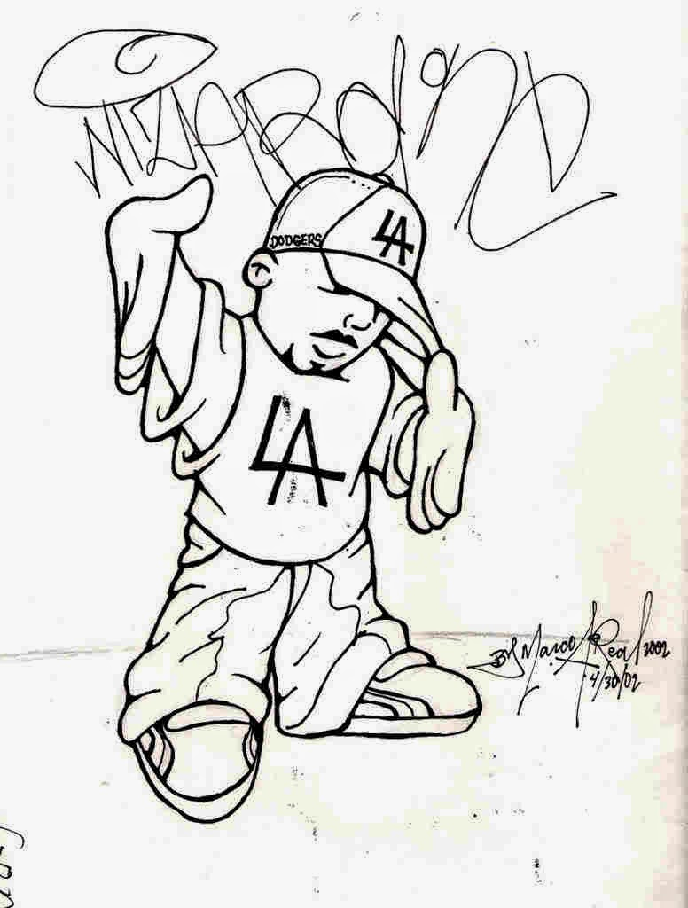 776x1024 Art Sketches By Graffiti Artist Of Gangsters Cartoons How To Draw