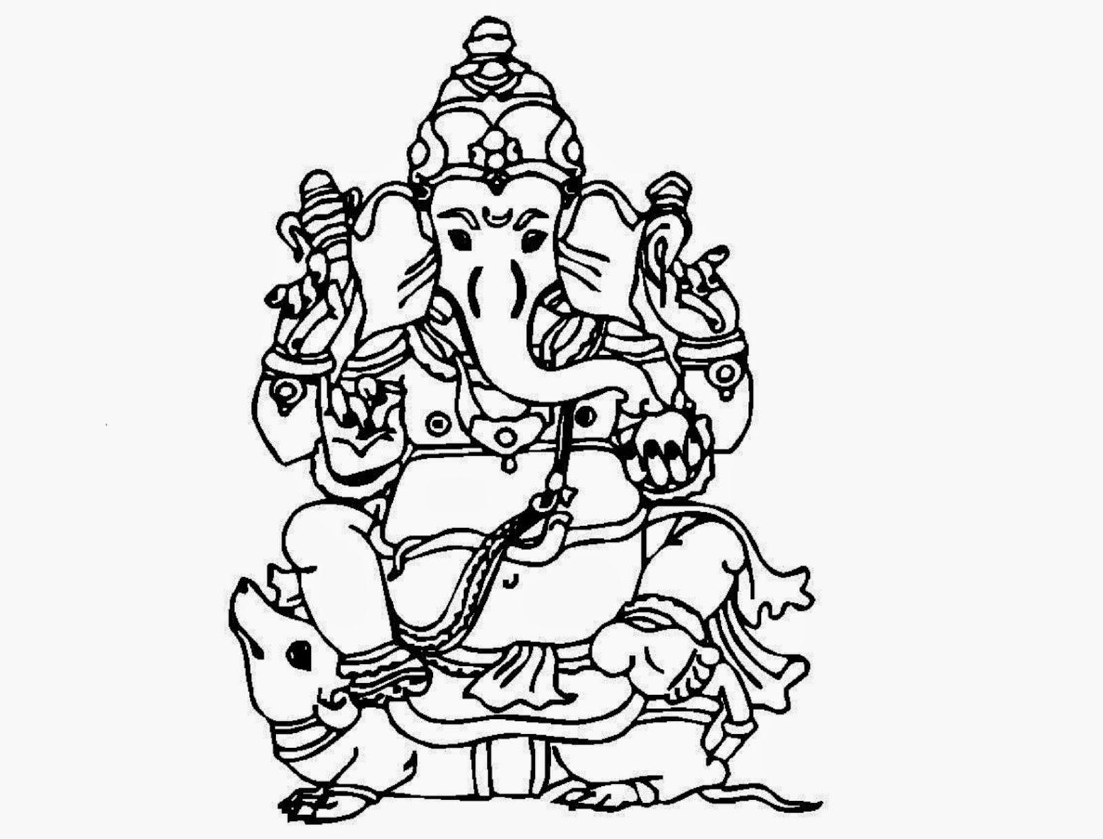 Ganpati Drawing at GetDrawings com | Free for personal use Ganpati