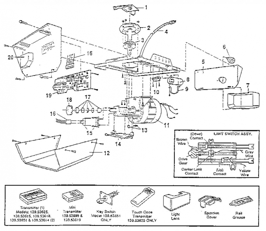 870x757 Garage Door Chamberlain Garage Door Opener Parts Diagram Wageuzi