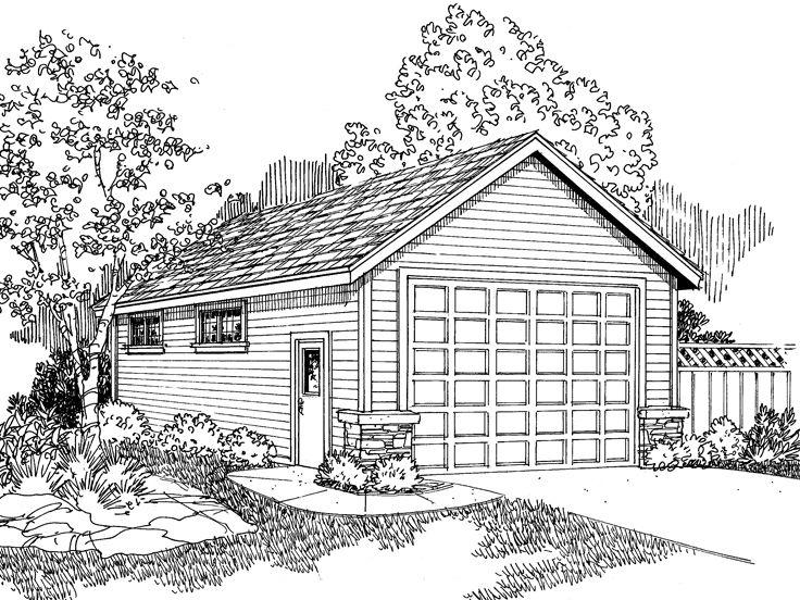 736x552 Rv Garage Plan, 051g 0029 Garage Rv Garage Plans