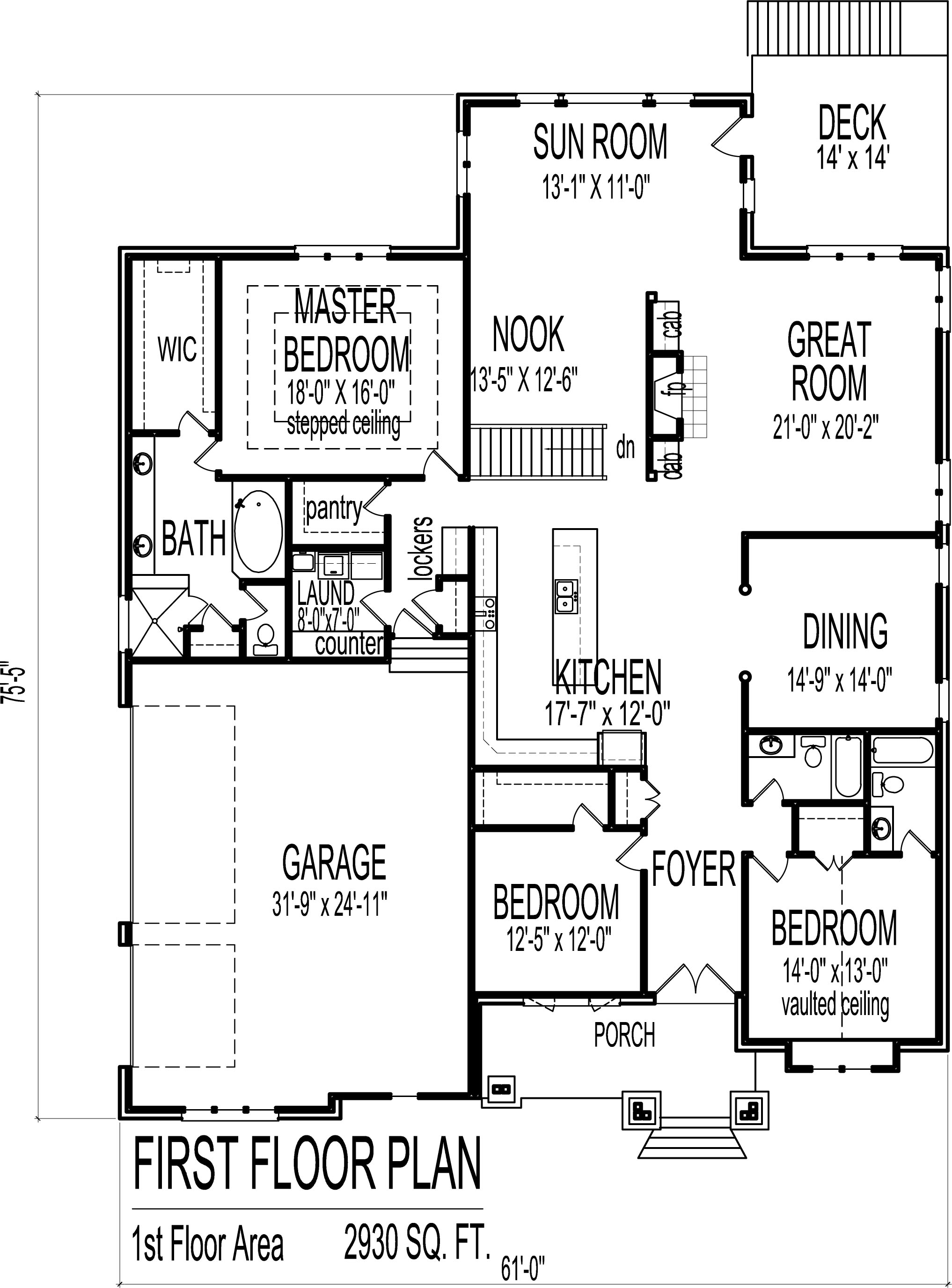 2034x2751 3 Bedroom Bungalow House Floor Plans Designs Single Story