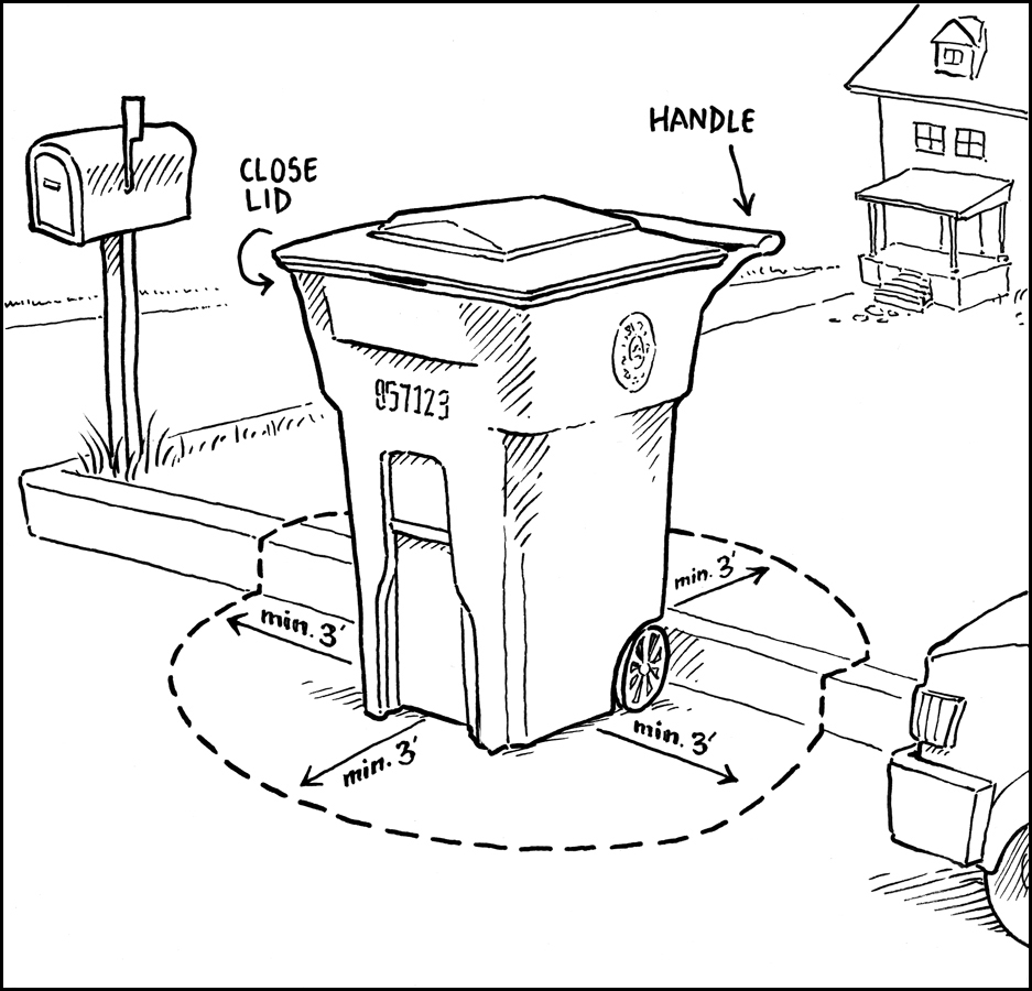 Garbage Can Drawing
