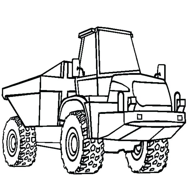 600x612 Dump Truck Coloring Page Astonishing Dump Truck Coloring Page