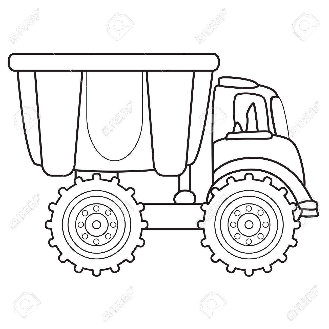 1300x1300 Dump Truck Toy Vector Illustration Royalty Free Cliparts, Vectors