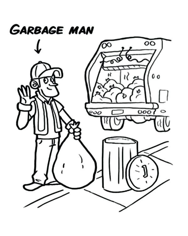 600x753 Epic Garbage Truck Coloring Pages Fee Page Free Download Image
