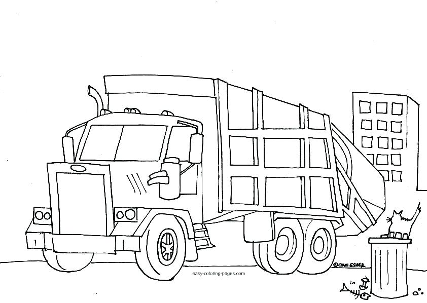 842x598 Garbage Truck Coloring Book