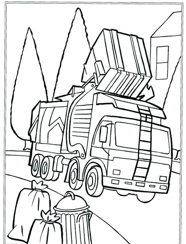 640x839 Garbage Truck Coloring Page 57 And Big Truck Coloring Pages Trucks