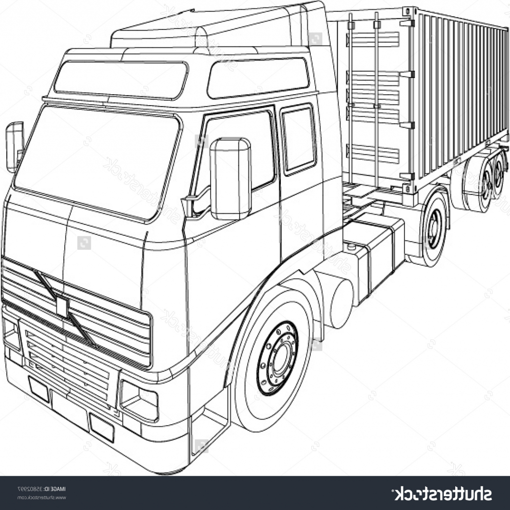 1024x1023 3d Drawing Of A Truck Garbage Truck Transport Pencil To Draw Step