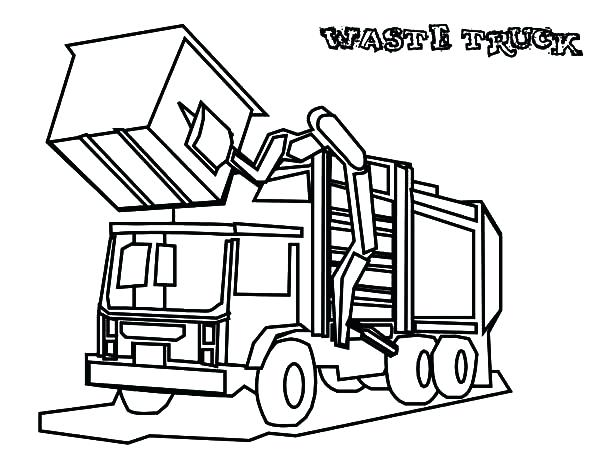 600x464 Garbage Truck Coloring Pages Drawing Garbage Truck Coloring Pages