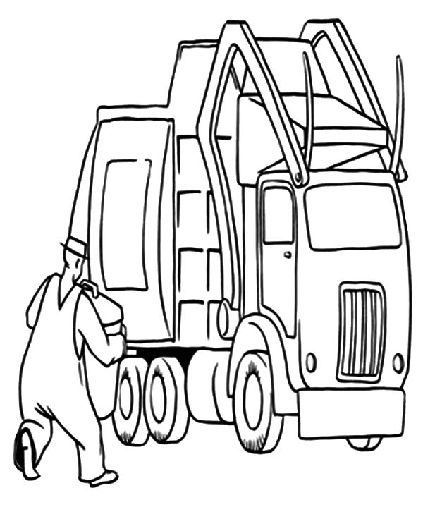 600x753 Garbage Truck Vehicles Coloring Pages Garbage Truck Vehicles