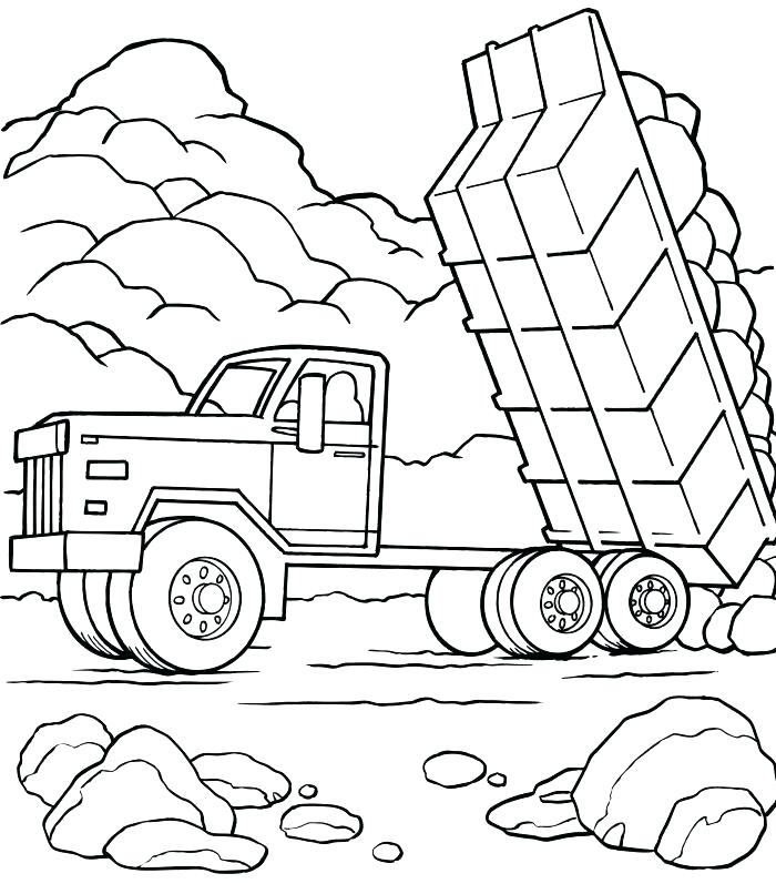 700x806 Peterbilt Coloring Pages Semi Truck Coloring Page Drawing Sketch