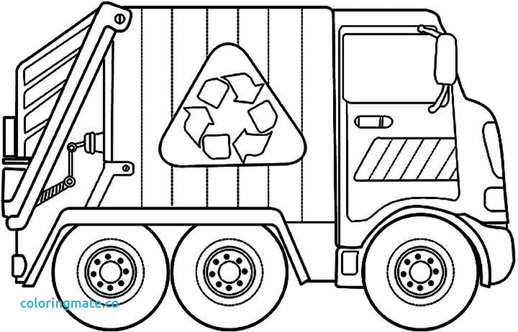 1024x657 Recycling Coloring Pages New Garbage Truck Coloring Page Coloring