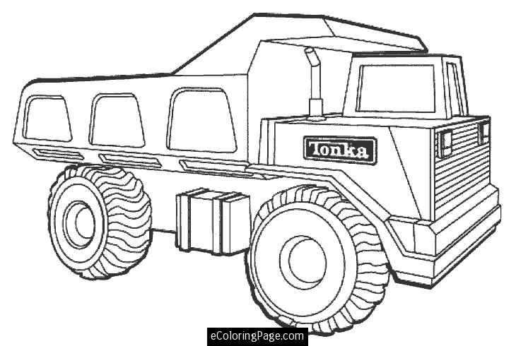 730x490 Truck Coloring Page