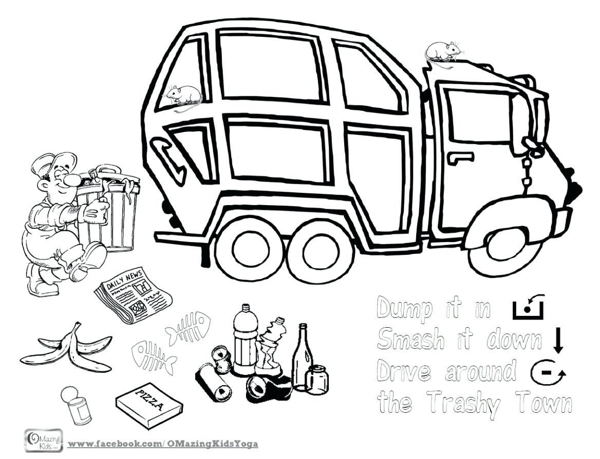 1168x895 Coloring Garbage Truck Coloring Pages