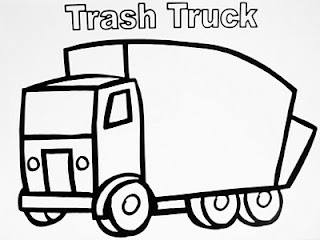 320x240 Coloring Page Garbage Truck Birthday Rubbish Truck