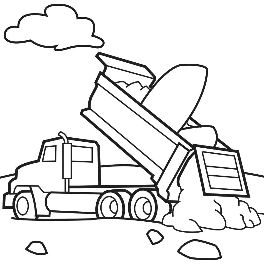 842x842 Garbage Truck Coloring Page Murs