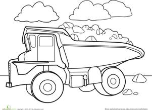 301x219 Color A Car Dump Truck Worksheet