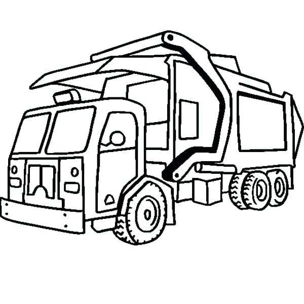 600x600 Coloring Pages Garbage Truck Garbage Truck Coloring Sheet Garbage