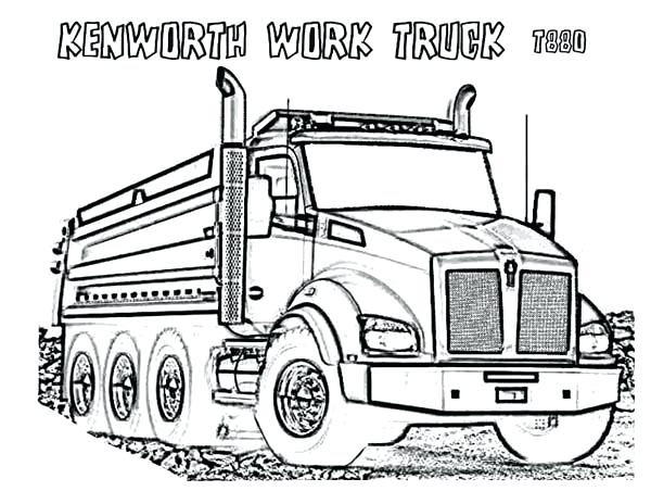 600x464 Drawing Garbage Truck Coloring Pages Download Print