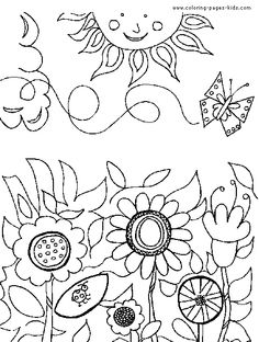 236x312 Flower Garden Drawing For Kids Decorating Clear