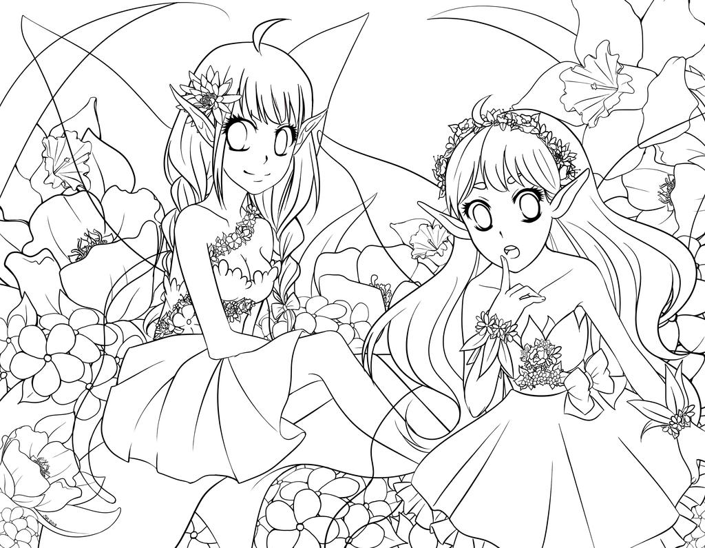 1024x795 Flower Garden Sketch Drawing On ~ Garden Trends