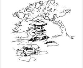 270x220 Japanese Garden Drawing