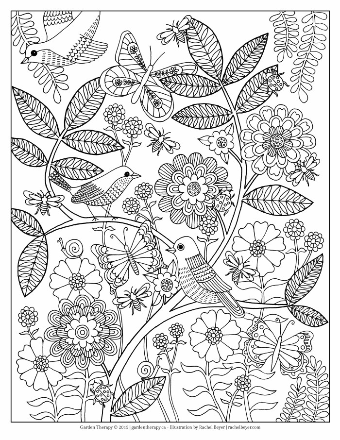 700x906 Life's A Garden Adult Coloring Page