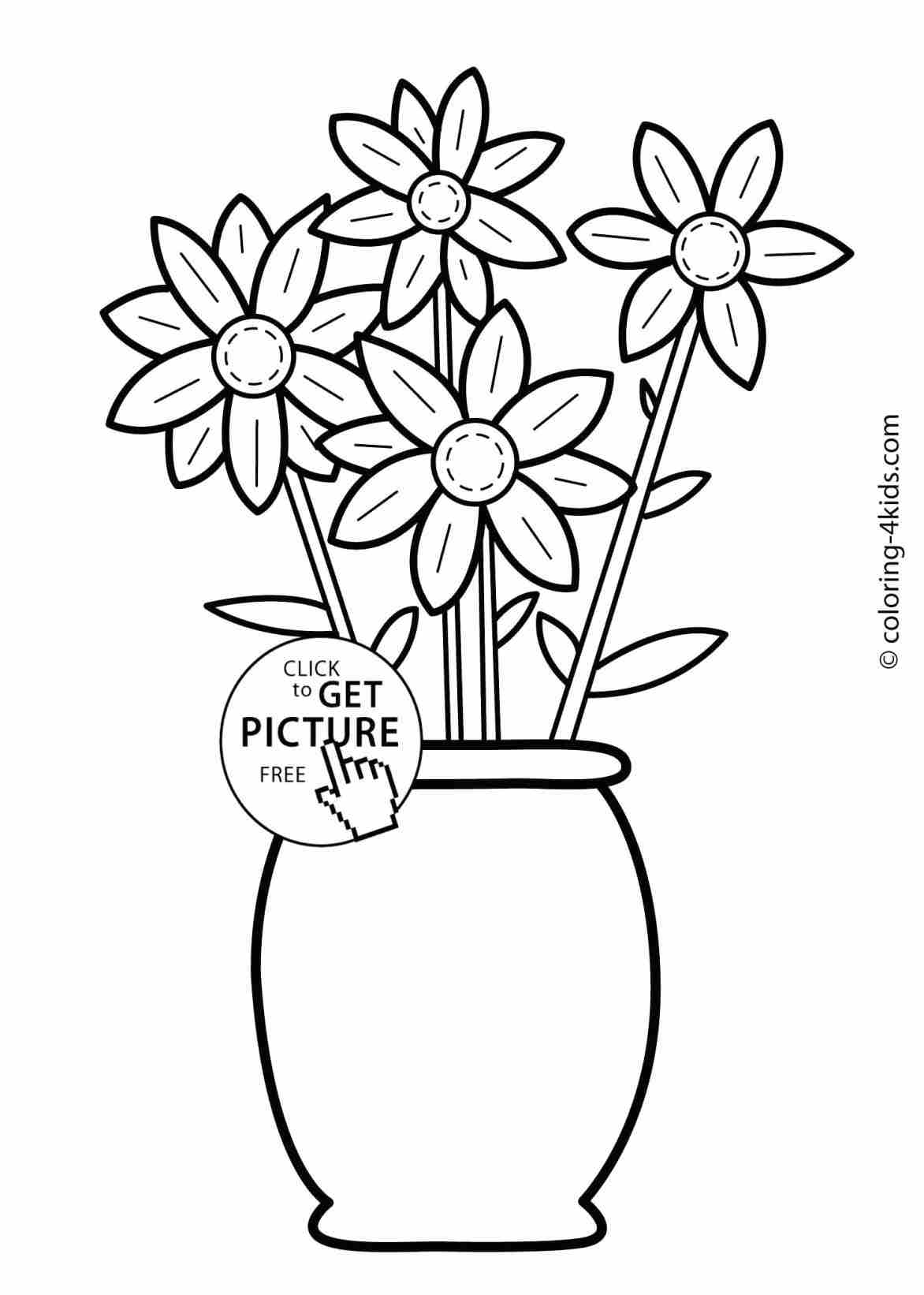 1172x1642 Flower Garden Drawing For Kids Simple Ideas On Easy