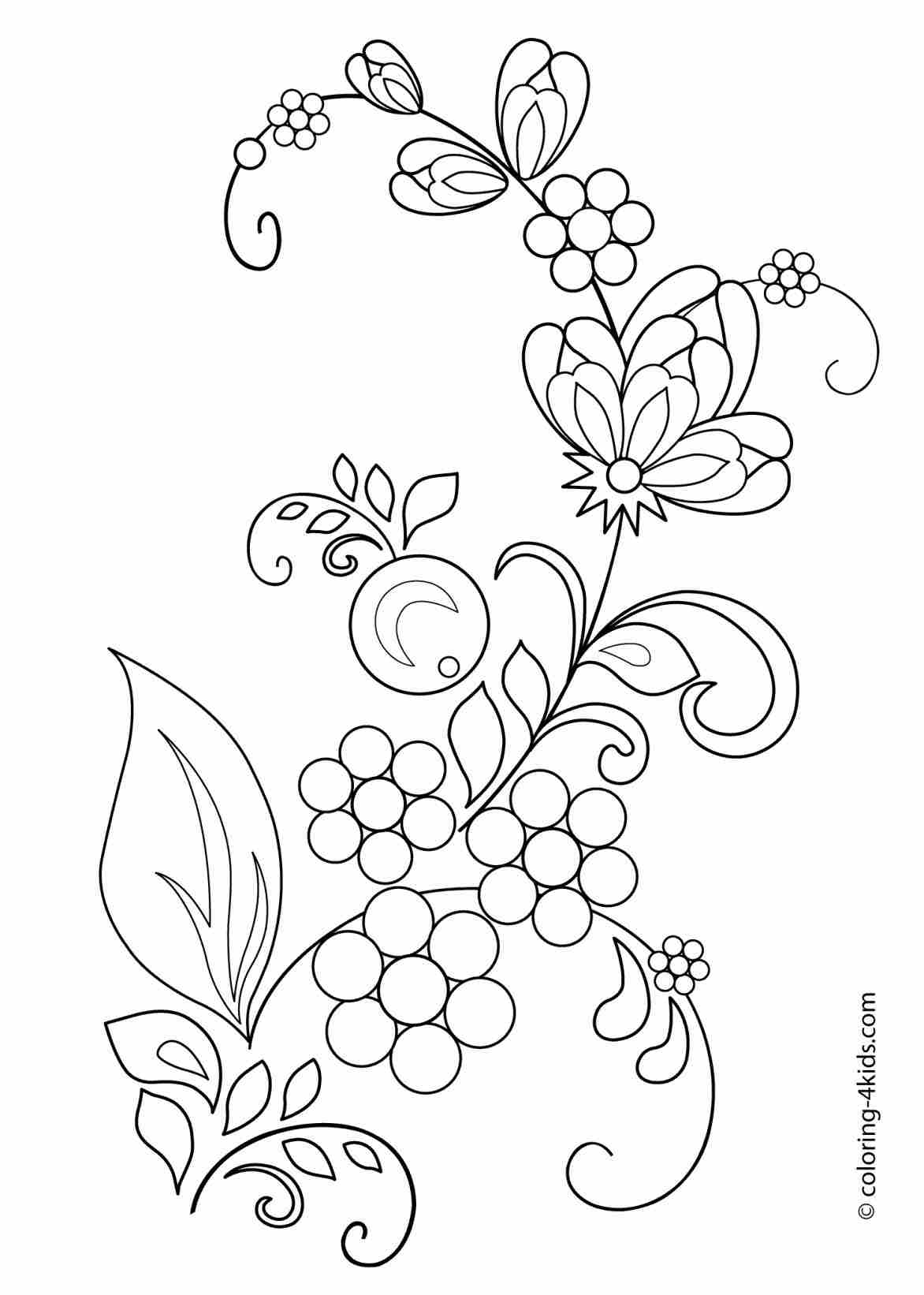 1172x1642 Pages Download Free Printable S Clip Art S Flower Garden Drawing