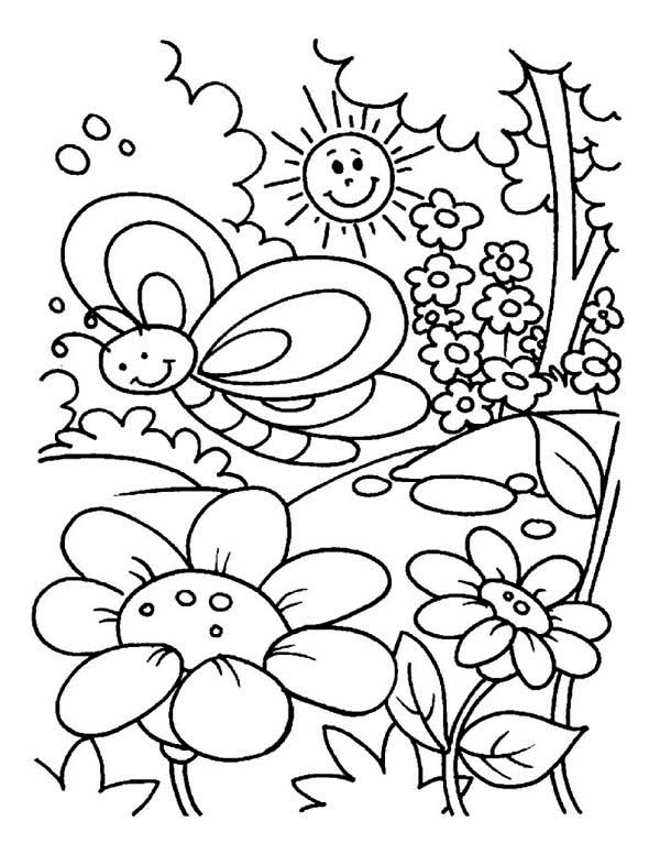600x776 Garden Coloring Pages For Preschool Tags