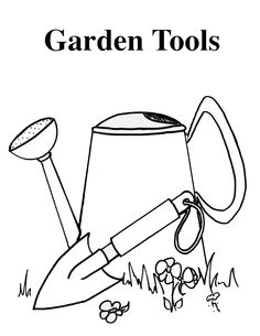 236x305 Kids Gardening Tools Matching Activity Sheet Gardening With Kids