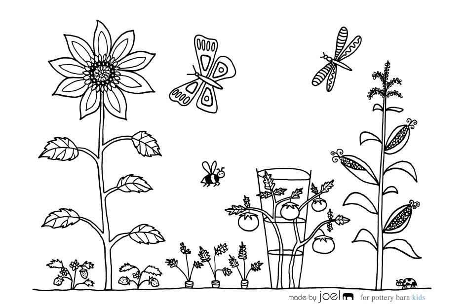 940x624 Made By Joel Vegetable Garden Coloring Sheet!