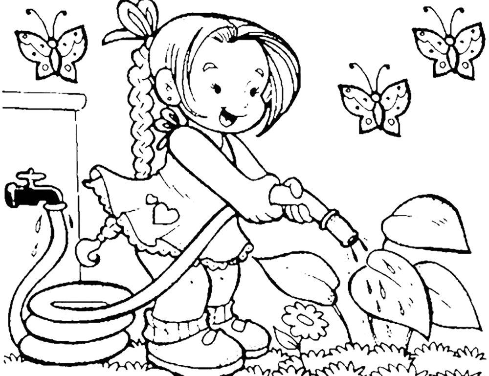 Garden Drawing For Kid at GetDrawings.com | Free for personal use ...