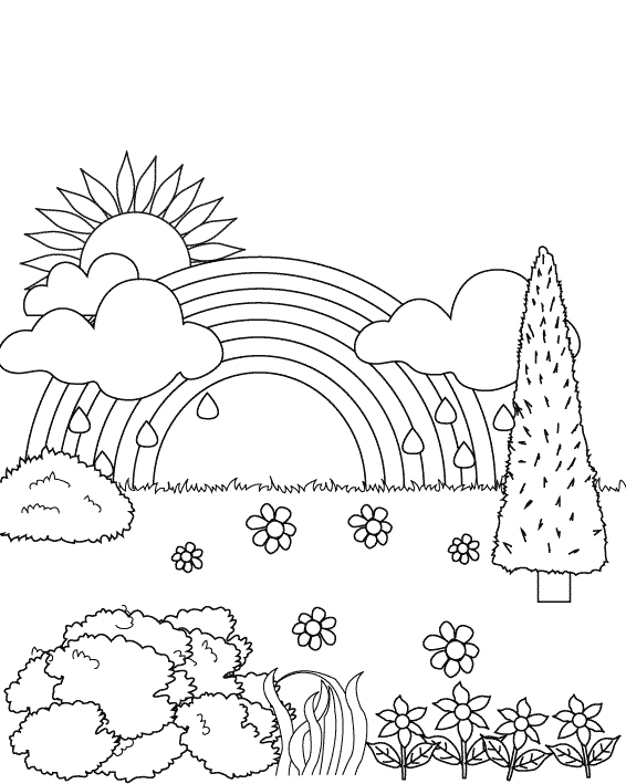 566x709 Drawing Pictures Of Garden For Kids
