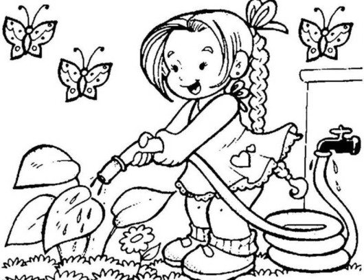 530x407 Flower Garden Coloring Project For Awesome Garden Coloring Pages