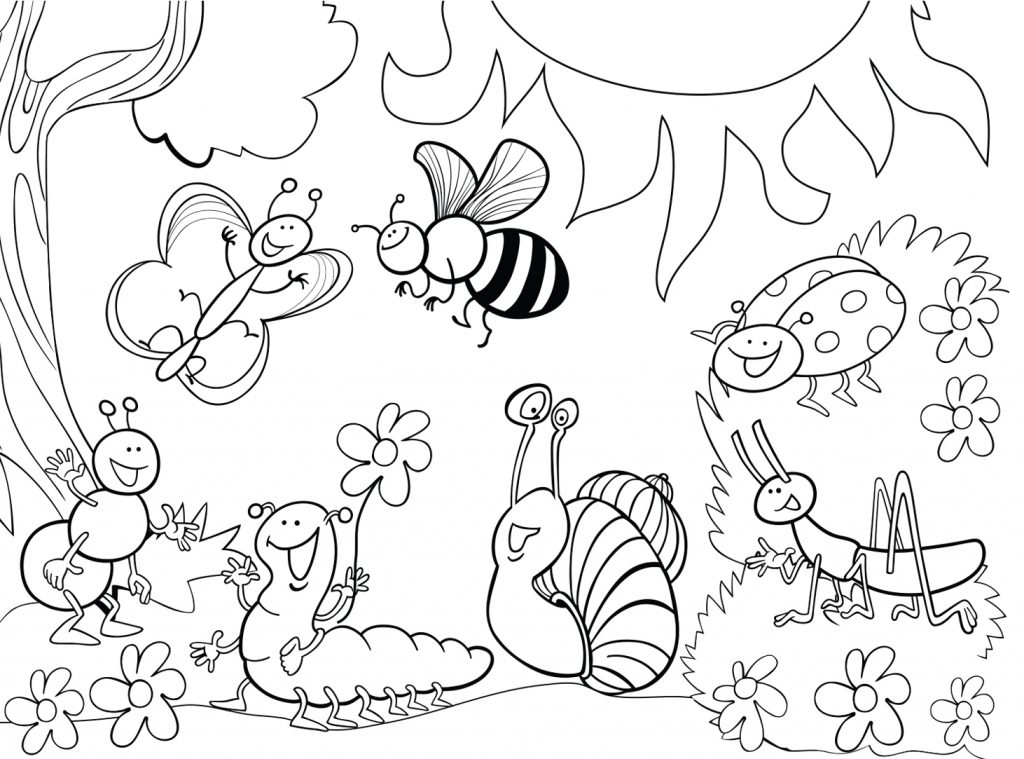 1024x759 Free I For Insects Coloring Pages Insect Color Printable Kids